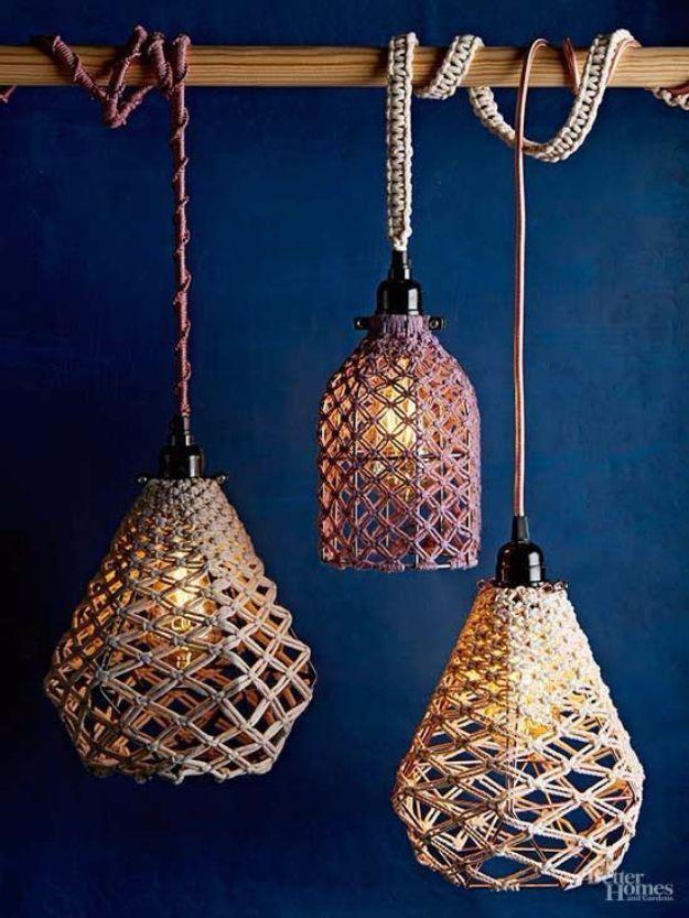 15 Awesome Macrame Crafts kann jeder zu Hause selbst machen #diyyarnholder