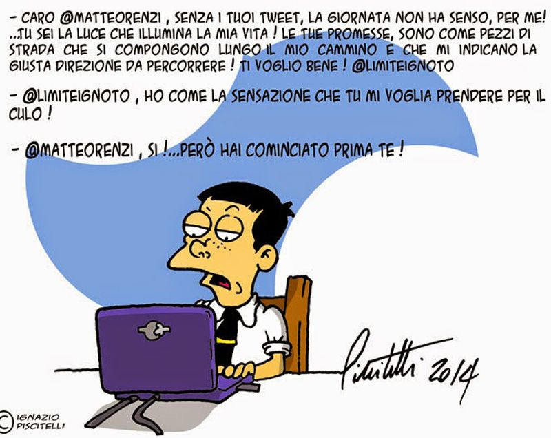 ITALIAN COMICS - I Tweet di Matteo Renzi