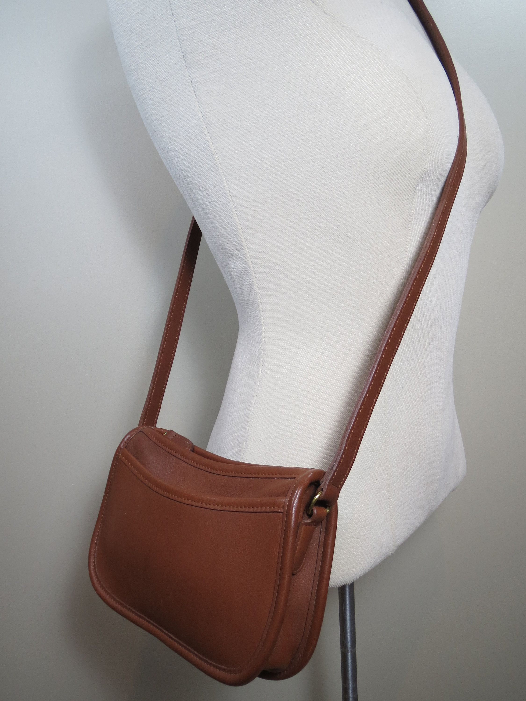 c1d38b5f Vintage Coach Bag WENDIE Crossbody British Tan Leather Coach Bag ...