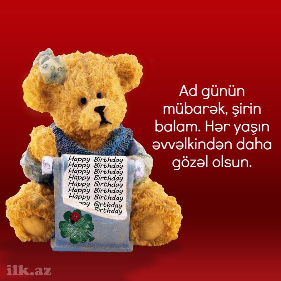 Ad Gunu Təbriki In 2021 Teddy Bear Teddy Animals