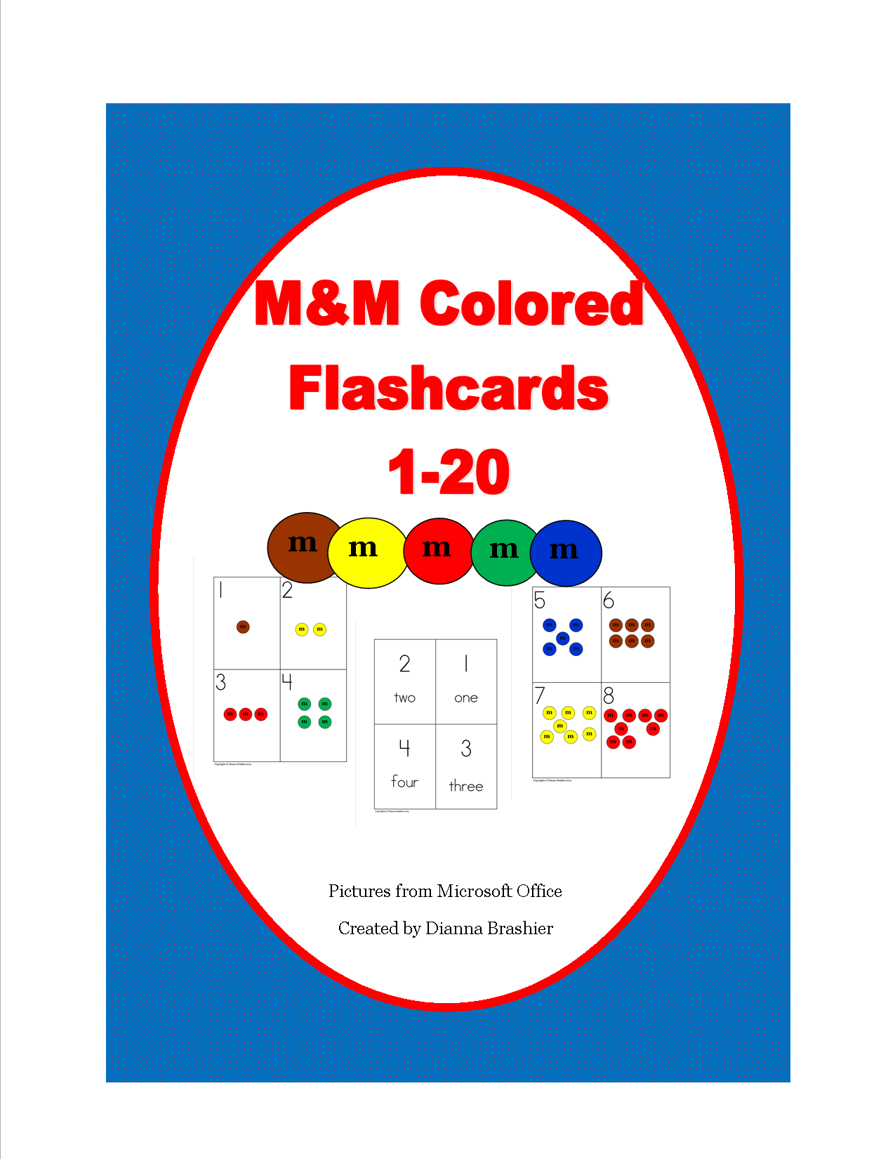 Math Candy M Amp Ms Flashcards Number Writing And Activities