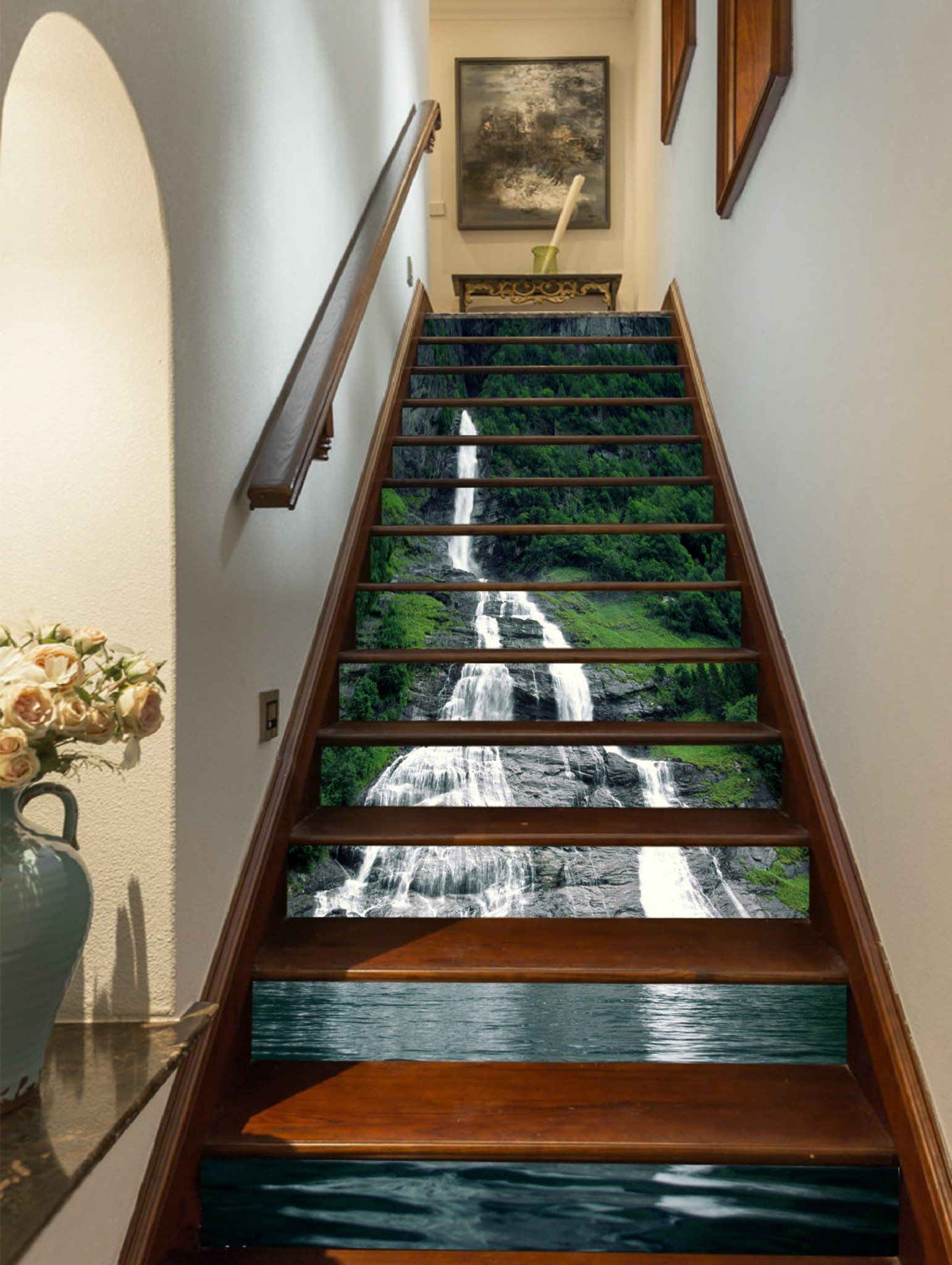 Best 3D Lakeside Steep Creek 954 Stair Risers In 2020 Stair 400 x 300