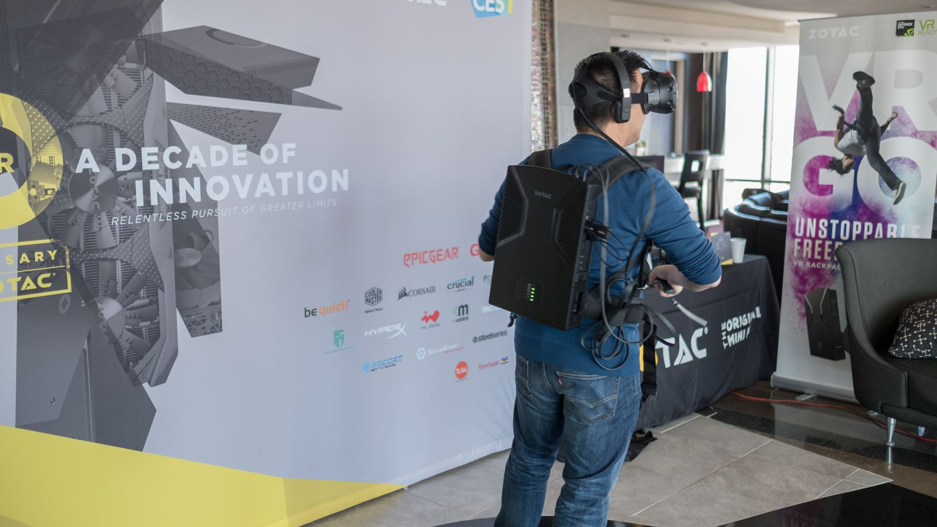 Zotac VR Go Wearable pc, Mini itx, Vr games
