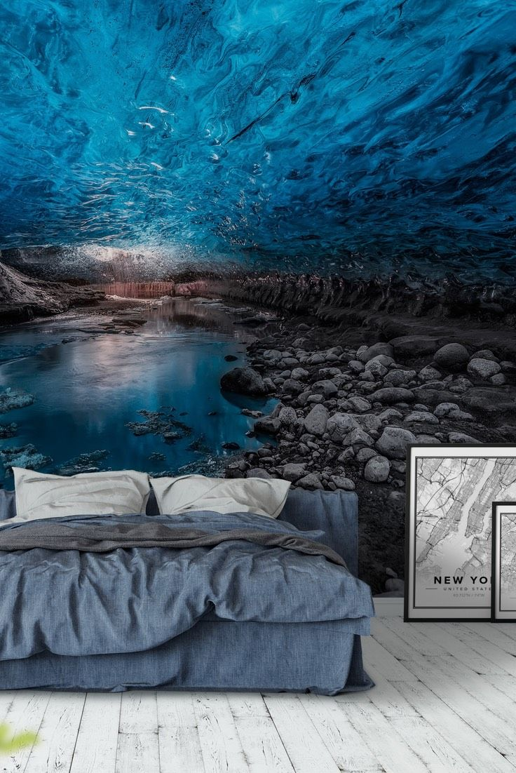 Ice Cave Wall Mural Large Wall Murals Clinic Interior Design