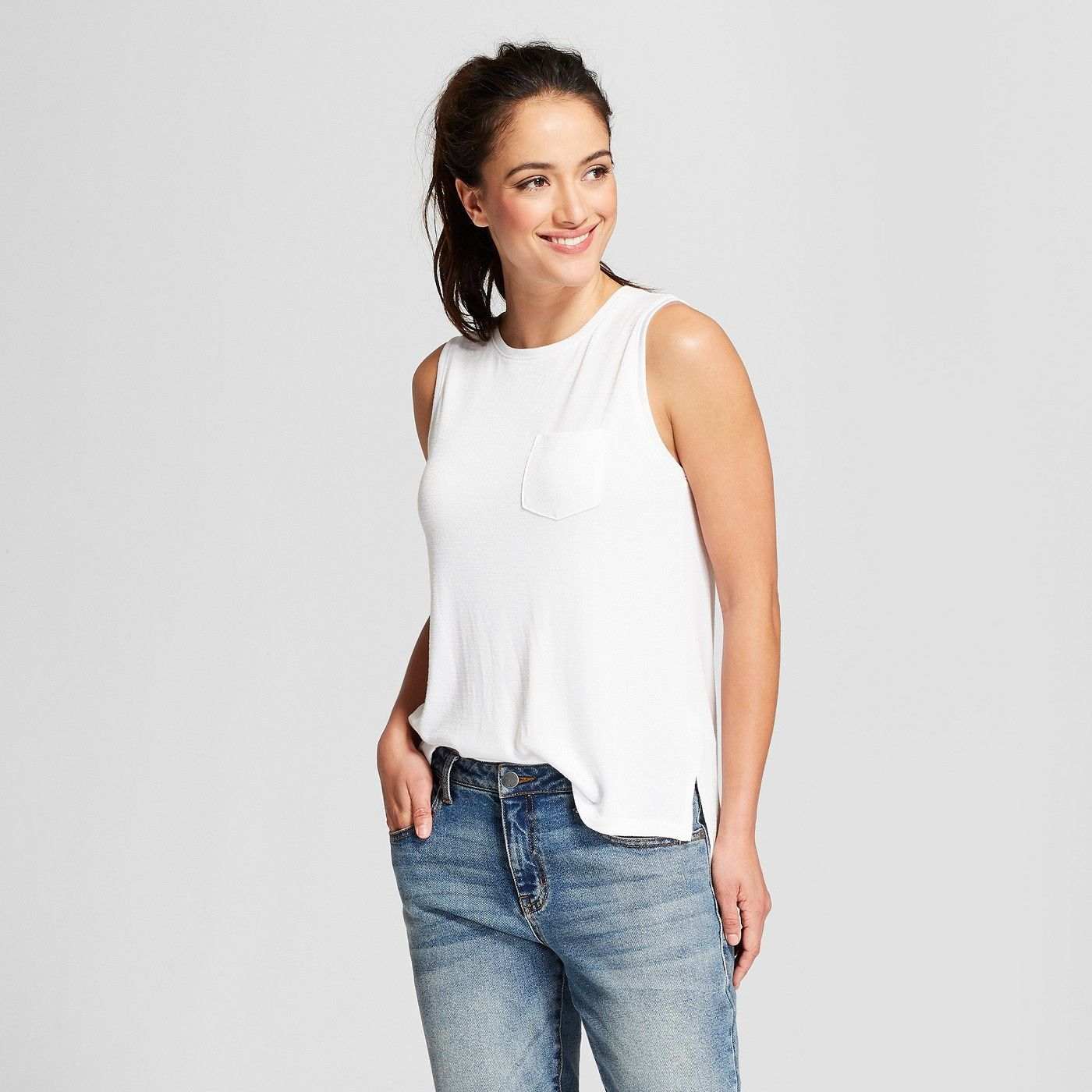 9b04d7d311831 Women s Relaxed Fit Tank Top - A New Day™ - image 1 of 3
