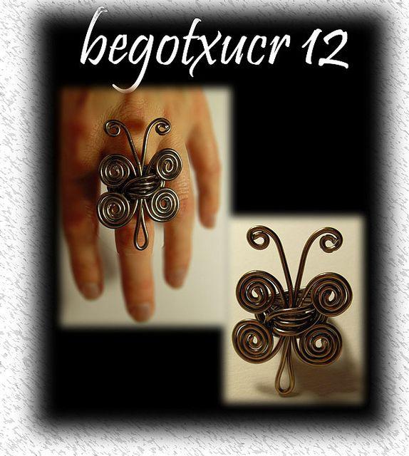 anillo mariposa alambre12 by begotxucr, via Flickr