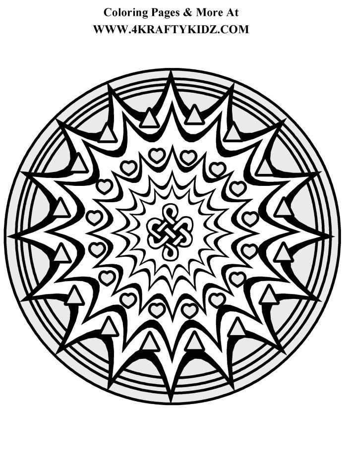 Starburst Mandala Coloring Page