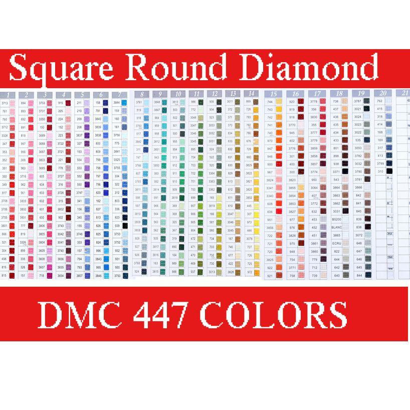 Diamond Painting Dmc Kleurenkaart Boek 447 Colors Dmc Diamond Painting Kleurenkaart Borduurpakketten Kleurkaarten Patronen