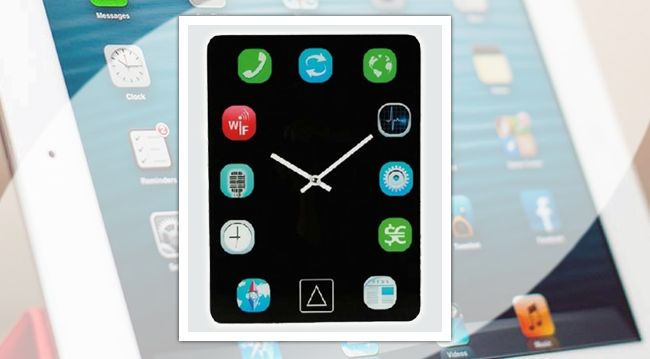 iPad Wall Clock - http://www.moredeal.co.uk/shopping-deals-online/ipad-wall-clock/