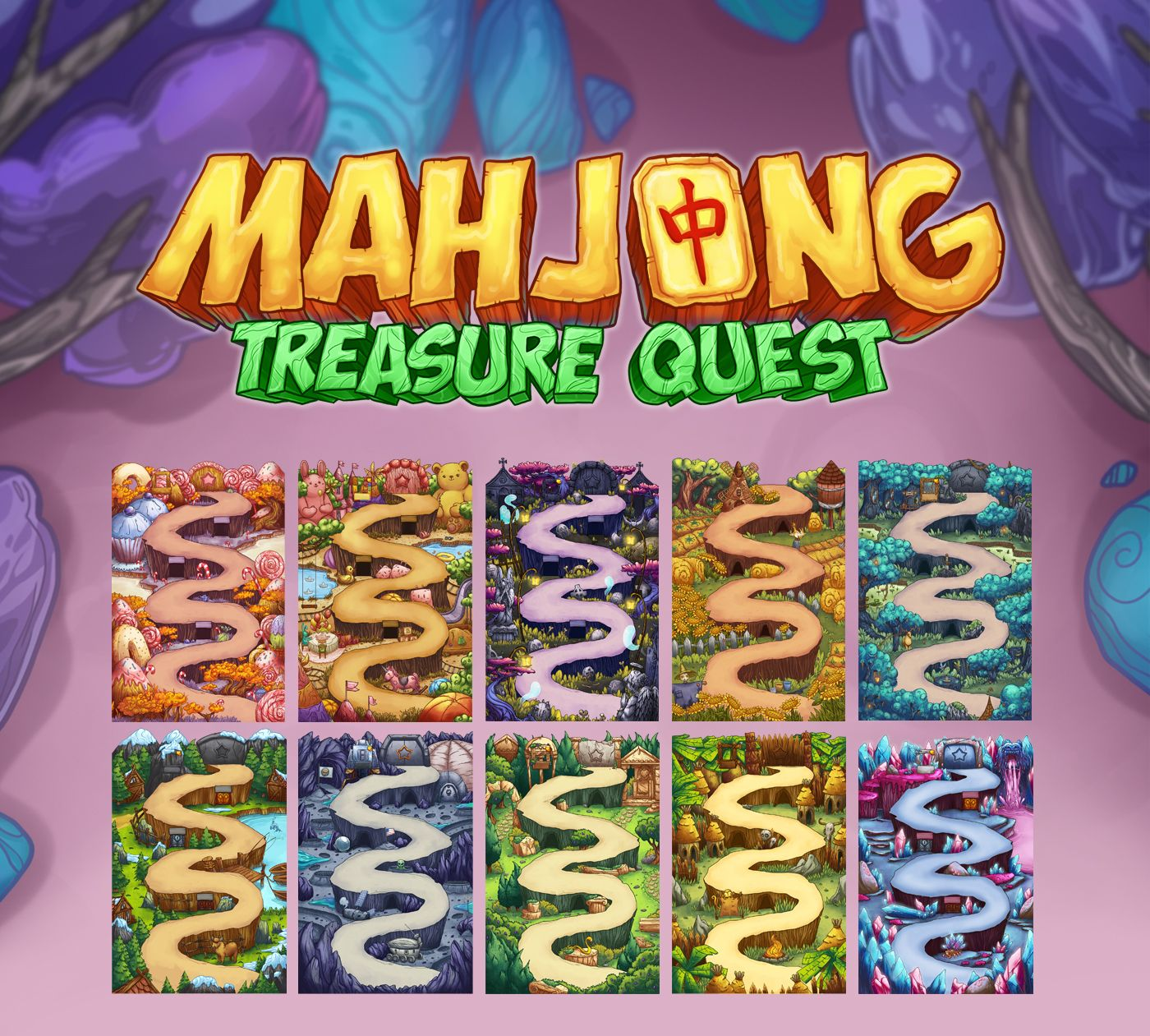 """Check out this @Behance project: """"Game locations for """"Mahjong Treasure Quest"""""""" https://www.behance.net/gallery/45478753/Game-locations-for-Mahjong-Treasure-Quest"""