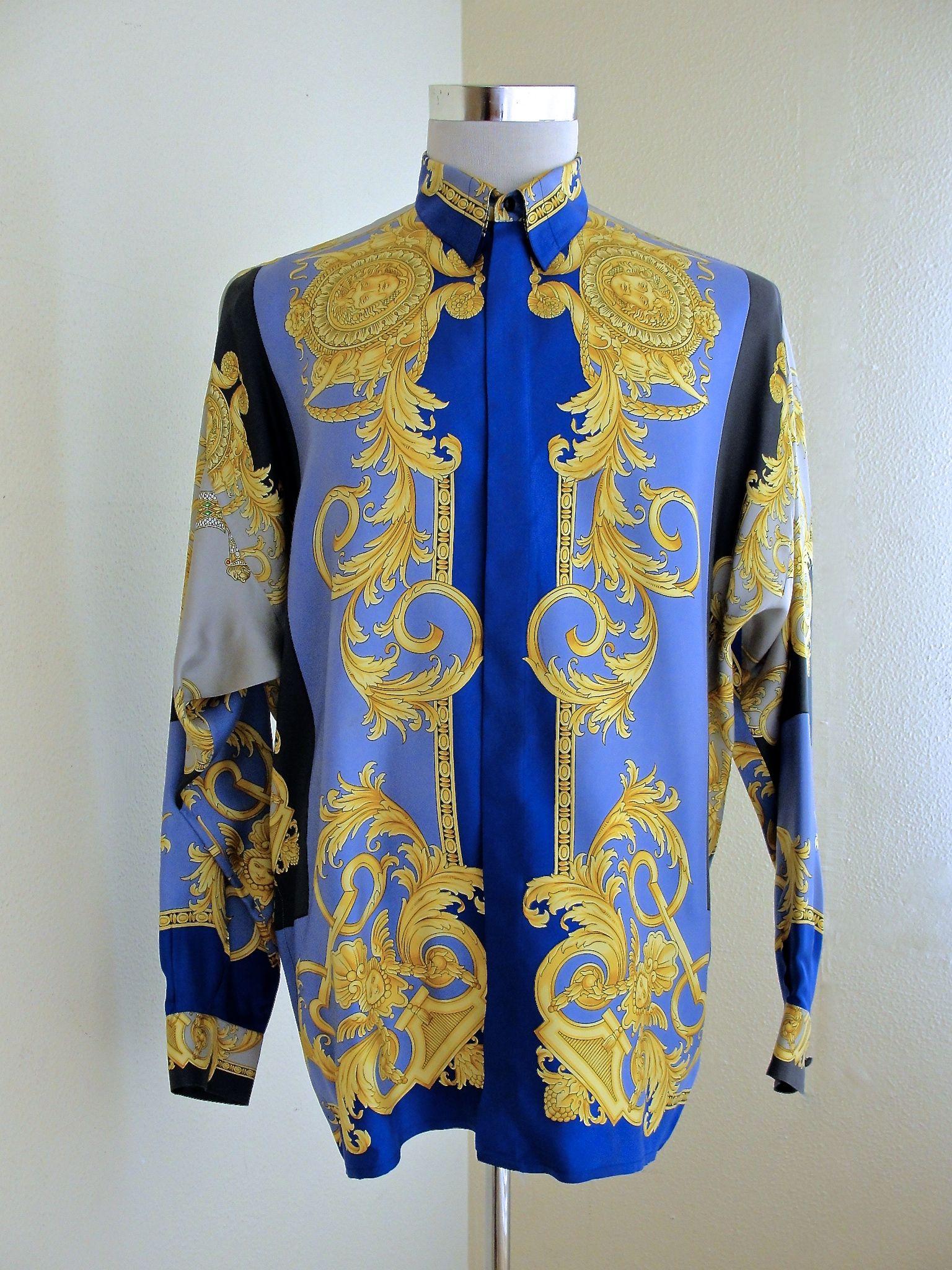 46de70674 Gianni Versace Medusa Silk Shirt | Luxury & Vintage Madrid | Fashion ...
