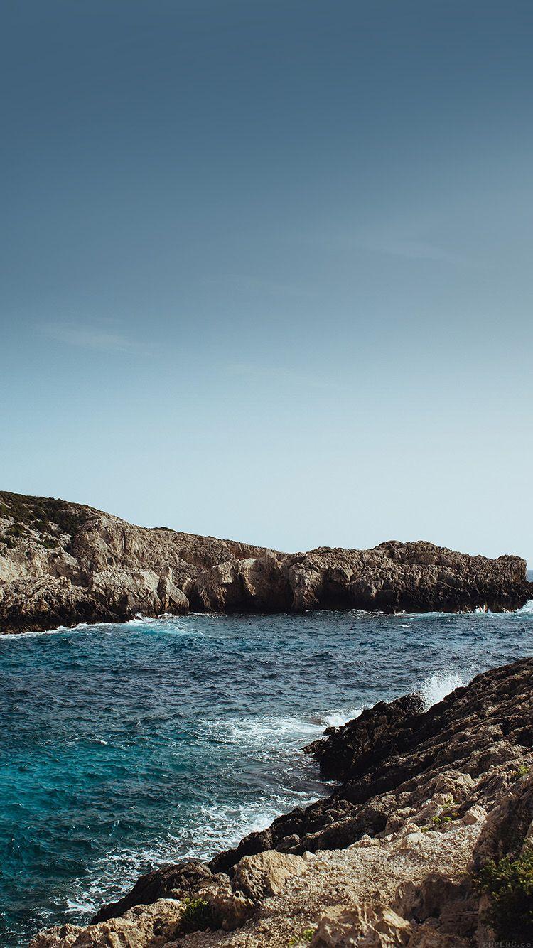 Mp91 One Sunny Day Beach Rock Sea Nature Beach Wallpaper Iphone Wallpaper Hd Nature Ipad Wallpaper