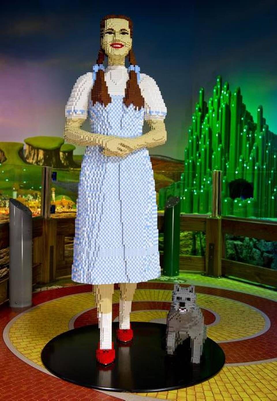 Life-size Dorothy and Toto at Legoland Discovery Center in Kansas City via The Kansas City Star