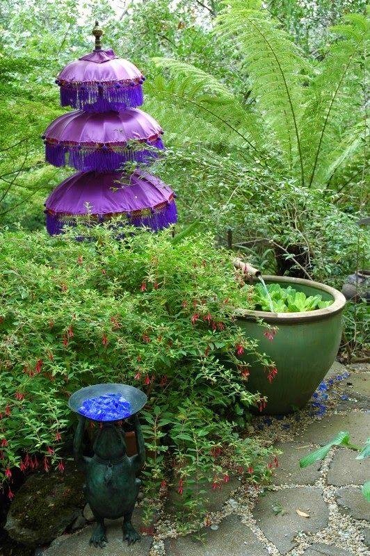 Balinese Garden Feature Umbrella | Gardening for the soul ...