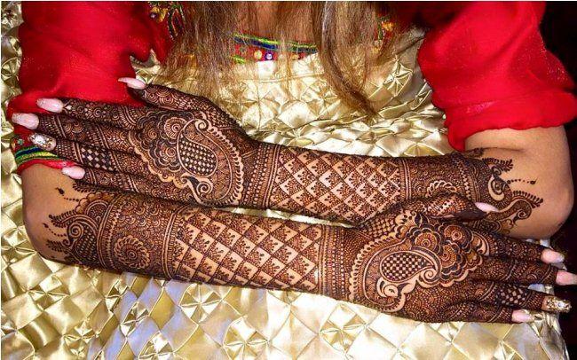 Bridal Mehndi New Latest Design : Latest bridal indian mehndi design for future brides