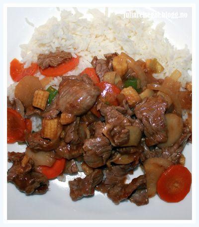 biff chop suey recept
