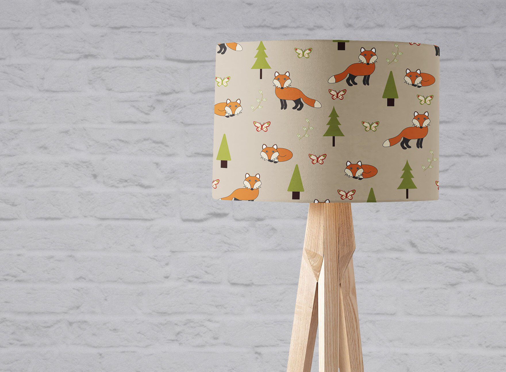 Fox Lampshade, Woodland Nursery, Foxes, Fox Light, Woodland Lampshade, Fox