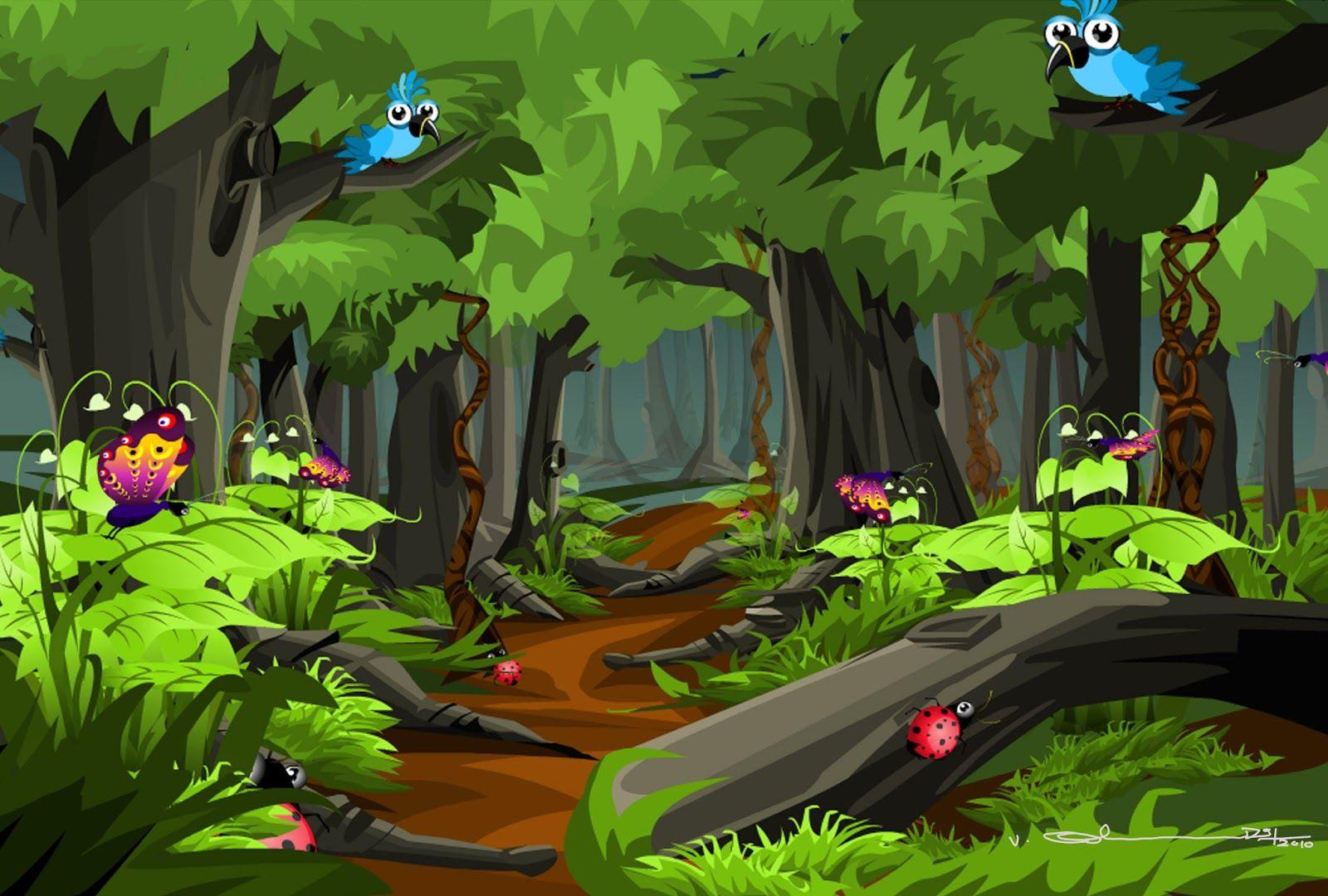 Selva fine art cartoon forest | ImgStocks. | EL LIBRO DE ...