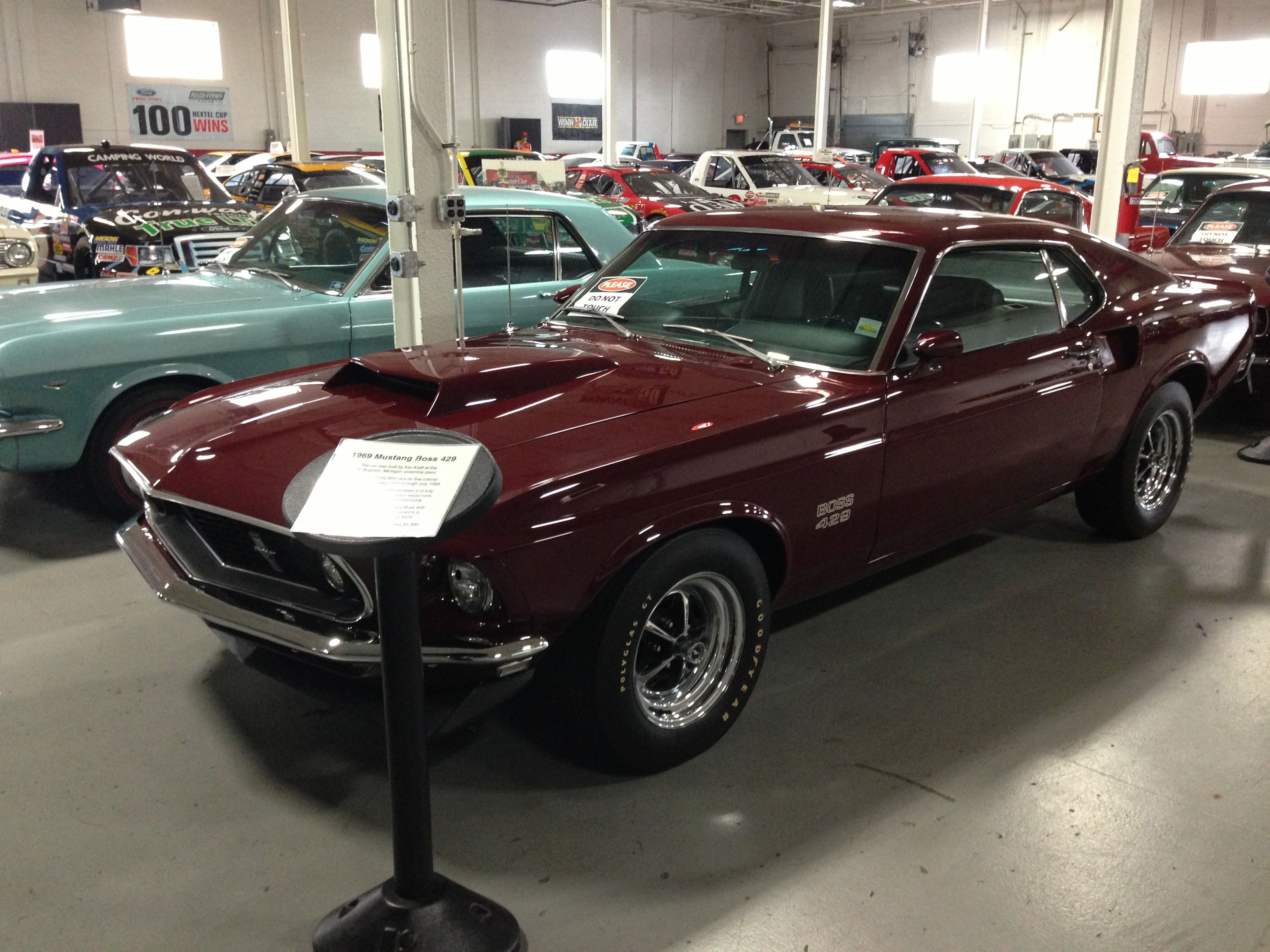 1969 Ford Mustang Boss 429. Jack Roush\'s private collection. Livonia ...