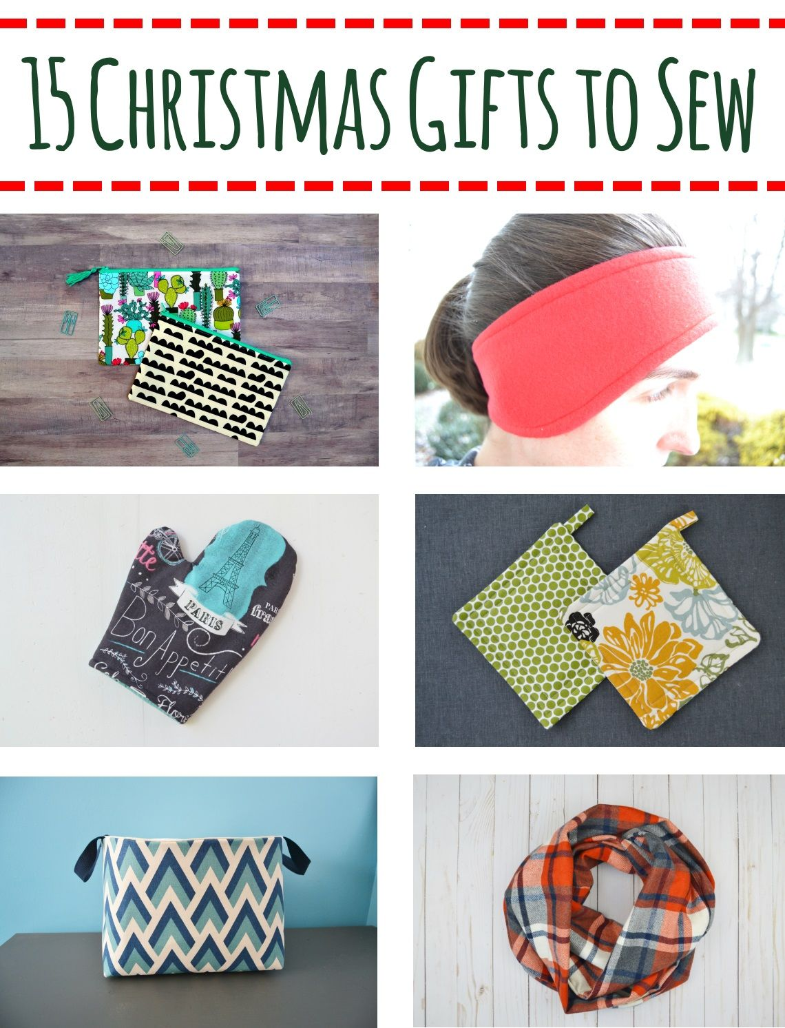 ideas for christmas gifts to sew with full tutorials for each