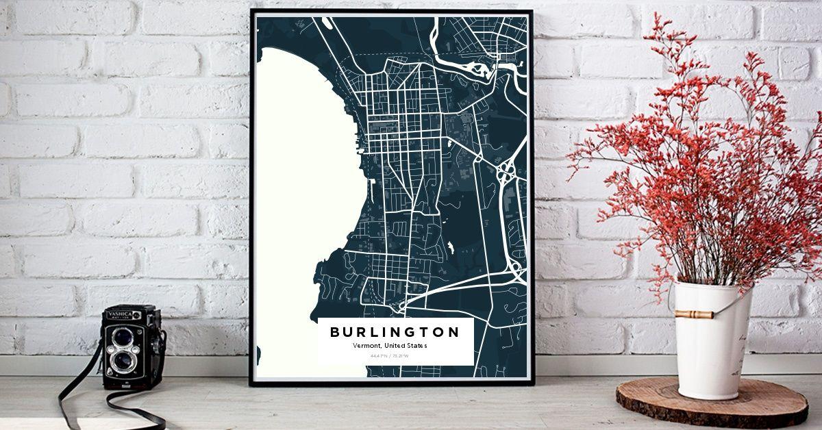 BurlingtonBurlingtonBurlington Custom Map Maker Make Your Own