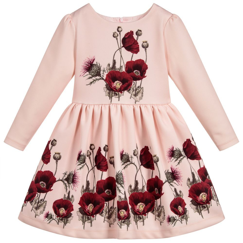 7c196132dea9 Girls Pink Neoprene Dress for Girl by Patachou. Discover more beautiful  designer Dresses for kids online