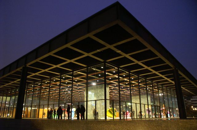 Neue National Galerie Berlin Mies Van Der Rohe American Architecture Berlin