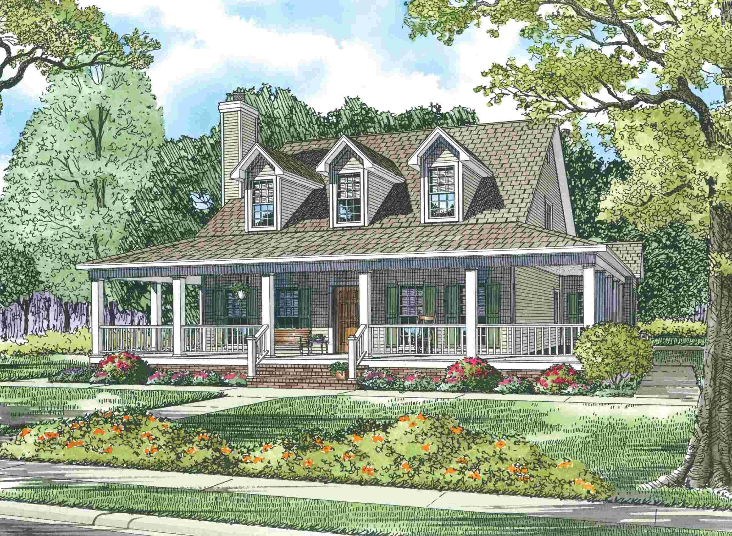 Wonderful Wrap Around Porch Maverick Custom Homes Country Style House Plans Porch House Plans Farmhouse Style House Plans