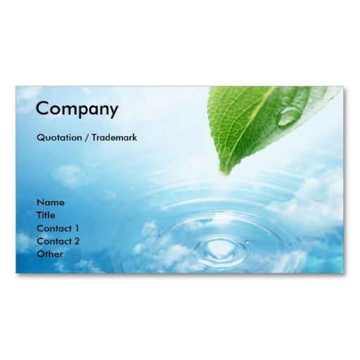 Pure Water Business Card Template Zazzle Com Printing Business Cards Cleaning Business Cards Business Card Template