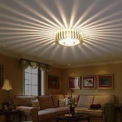 Home Led 3w Hall Light Walkway Porch Decor Ceiling Lamp Sun Flower
