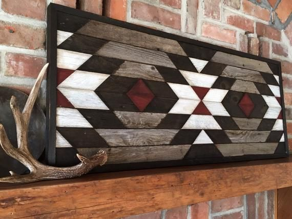 PENDLETON - Reclaimed wood wall art - Southwestern wood wall decor - Navajo inspired art