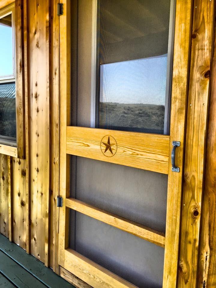 Door purchased at McCoy's in Alpine, TX. Roofing