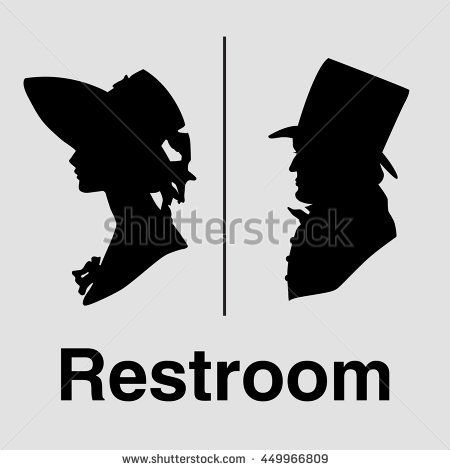 Thumb48shutterstock Displaypicwithlogo 48 48 Adorable Bathroom Sign Vector Style