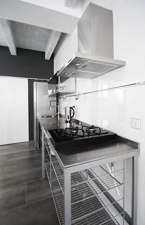 Industrial Flat Interior Design Kitchen Set Design Kitchen
