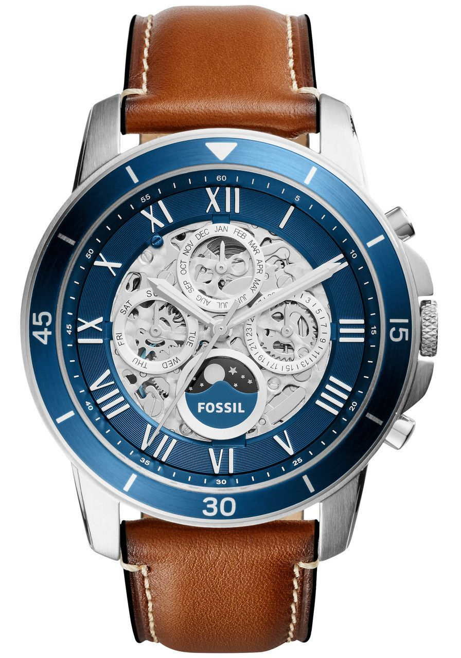 e67cd319c0c6 Fossil ME3140 Grant Sport Automatic Leather Brown (ME3140)