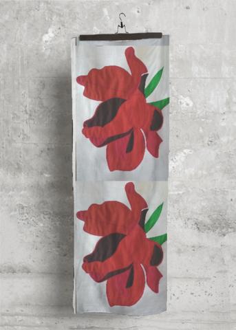 Cashmere Silk Scarf - Red Paper Poppy Field by VIDA VIDA ZaFd2
