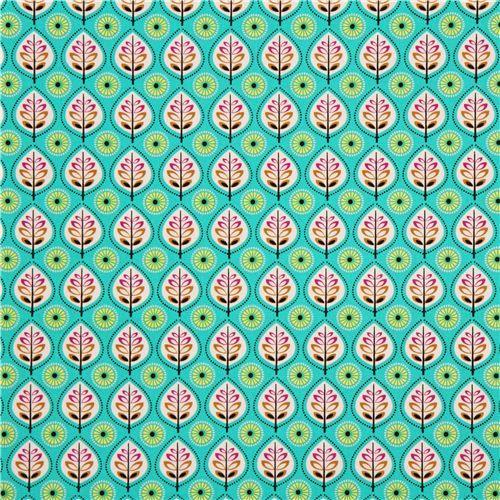 tela de la hoja de color turquesa por Michael Miller de los EE.UU. 2