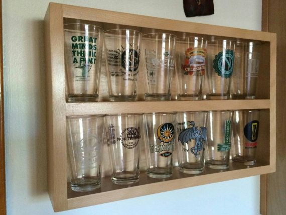 Pint Glass Display Pint Glass Shelf Handcrafted Beer