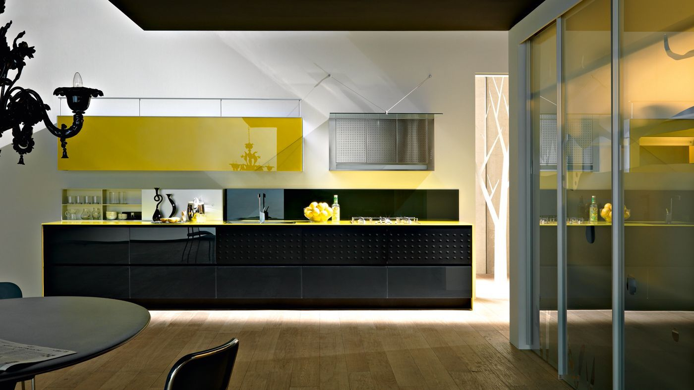 Riciclantica vetro by valcucine kitchens pinterest - Cucine moderne gialle ...