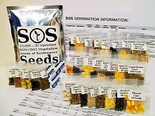 10000 Natural Vegetable Seed 30 Variety Garden Pack Emergency Survival Kit Food  6196 Watch Count