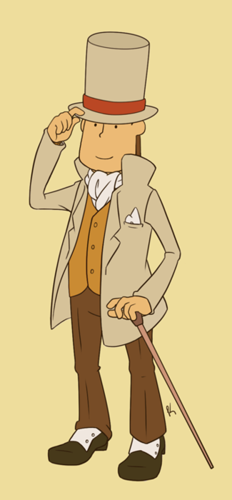 A really well dressed Professor Layton