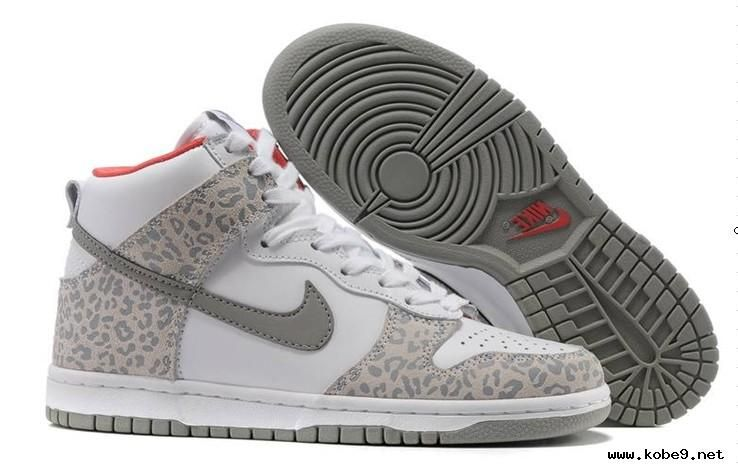 Buy?For Sale Womens Nike Dunk High Skinny Leopard Pack White Medium Grey Sunburst Casual Shoes
