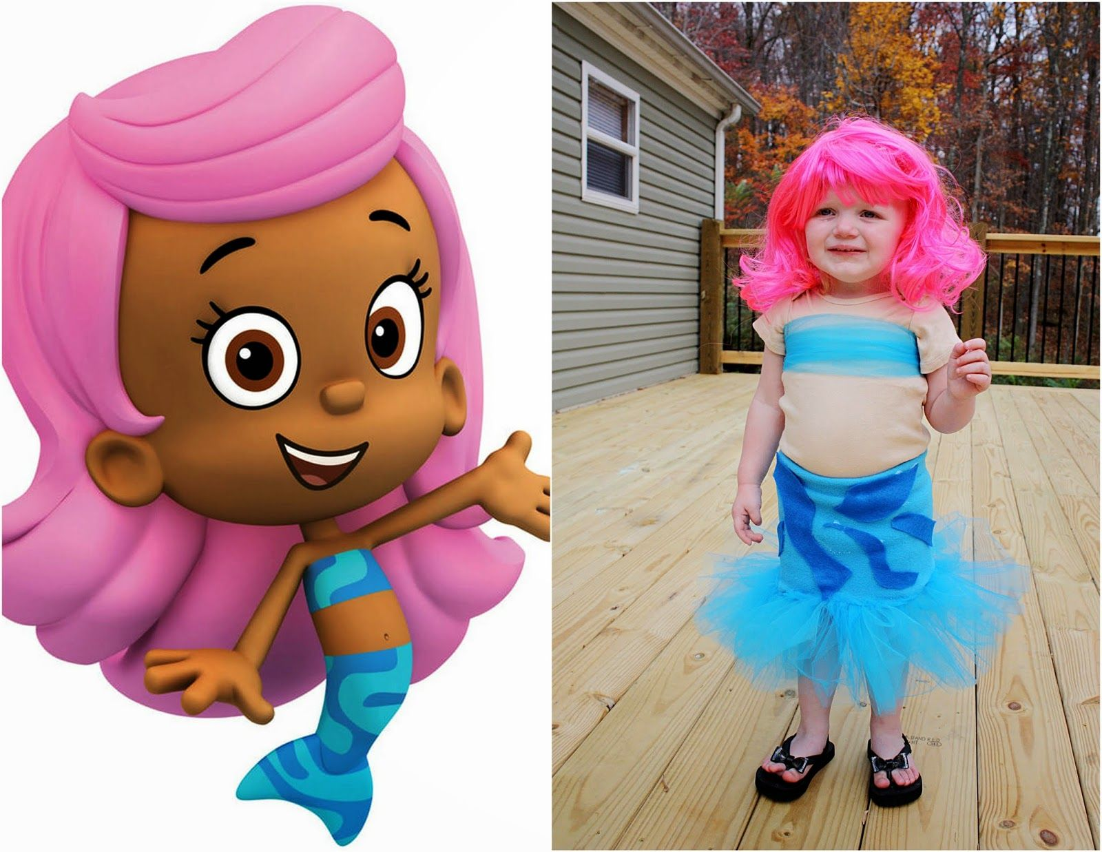 diy bubble guppies molly costume life on a gravel road from life