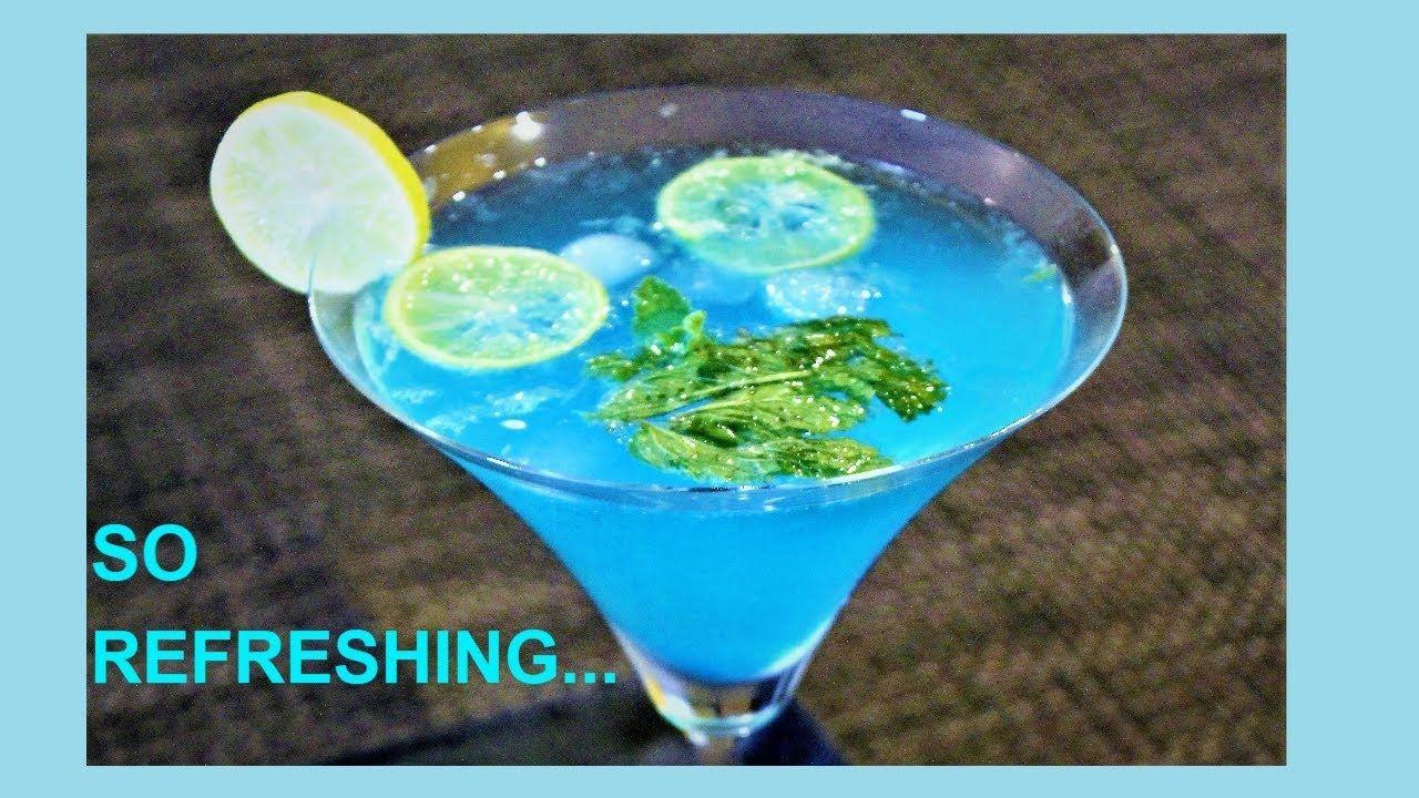Instant Blue Lagoon Mocktail Recipe Summer Drink Non