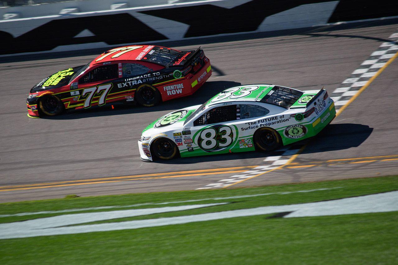 Dustless Blasting's 83 car at Daytona 500 Nascar