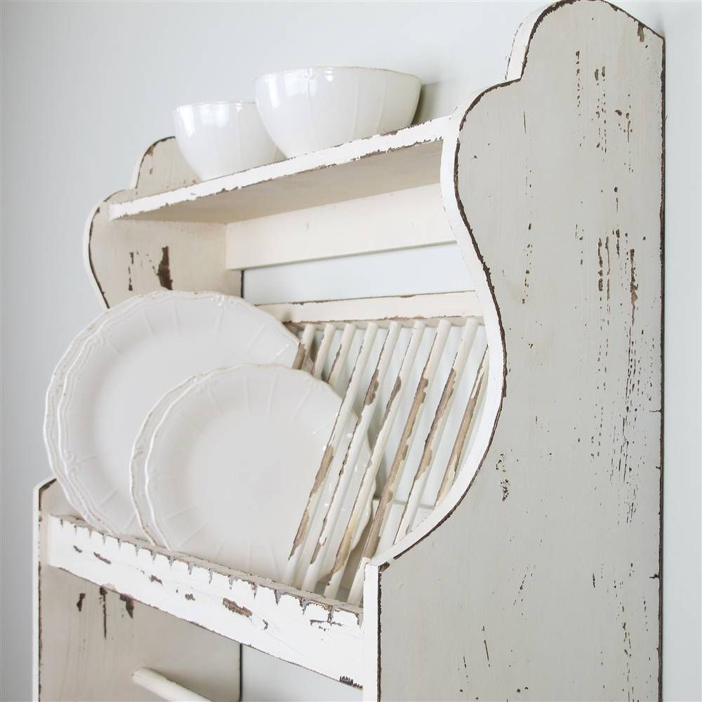 Vintage French Soul ~ kitchen wall self for plates  sc 1 st  Pinterest & Kitchen \u0026 Dining \u003e racks shelves \u0026 hooks \u003e Wooden plate rack/shelf ...