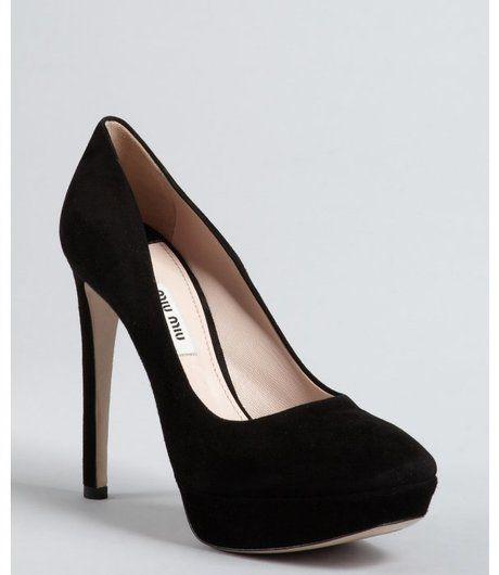 c3db536683e Black Suede Square Toe Platform Pumps - Lyst | shoe | Shoes, Pumps ...
