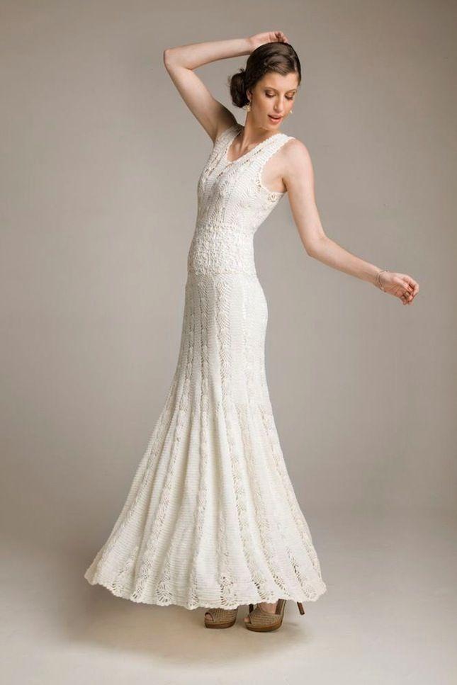 15 Wedding Dresses You Won T Believe Are Crocheted Crochet Wedding Dresses Diy Wedding Dress Patterns Crochet Dress