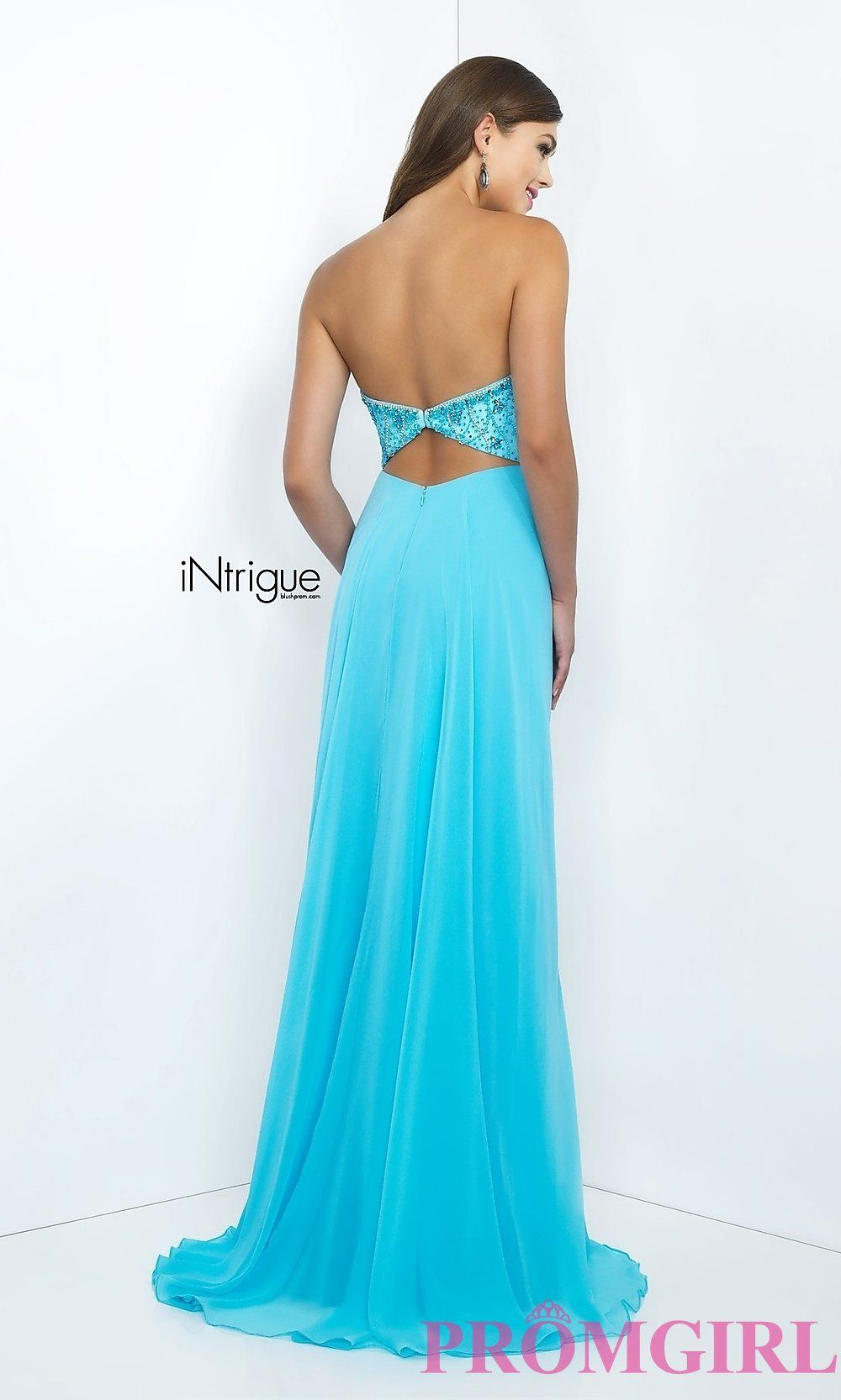 75a6966f6b6 Intrigue by Blush Strapless Sweetheart Prom Dress