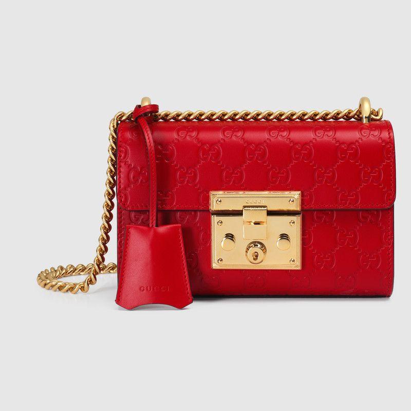 f68a97ac7998 Padlock small Gucci Signature shoulder bag